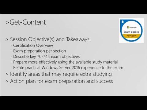 Cert Exam Prep: Exam 70-744: Securing Windows Server 2016  - BRK3177