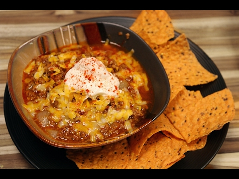 Low Carb Texas Chili Recipe  - slow cooker recipes- cooking channel - beef chilli dinner
