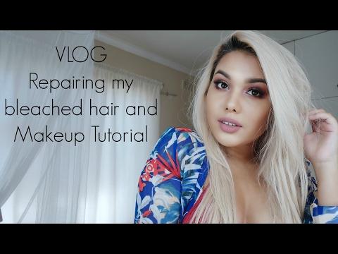 VLOG: Repairing my bleached hair