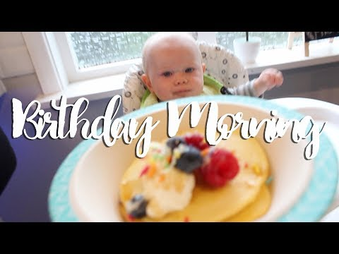 Birthday Morning + Present opening