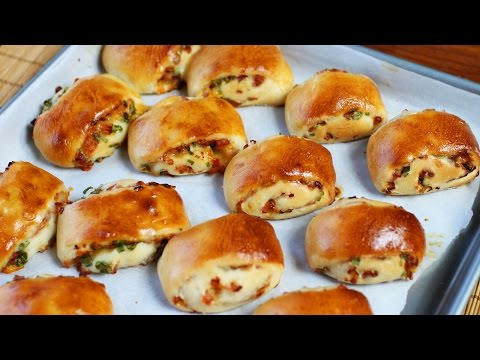 Baked Ham and Cheese Rolls Recipe