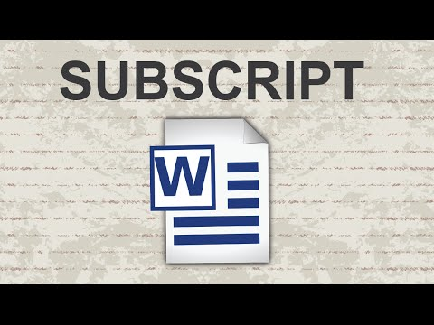Subscript in Word - 2015