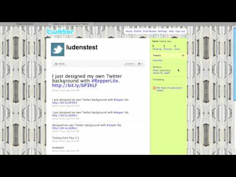 Repper Lite: Set your Twitter background