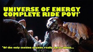 Universe of Energy Complete Ride POV of the only section anyone cares about! DINOSAURS! Epcot