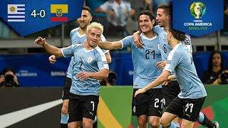 Uruguay golea a Ecuador | Uruguay 4 - 0 Ecuador | Copa América | Televisa Deportes