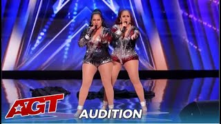 Double Dragon: SEXY Latina Twins Duo From Peru SAVE The Day On America's Got Talent
