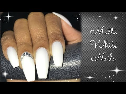 DIY Nails | Easy Matte White Nails
