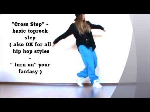 Basic Cross Step.Easy Hip Hop Lesson  /TOPROCK/ by EHABY/