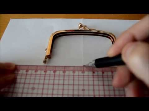 How to draw patterns for frame/clasp purses
