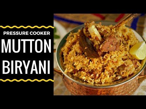 மட்டன் பிரியாணி | Mutton biryani in Pressure cooker | Ramzan biryani recipe  tamil Style