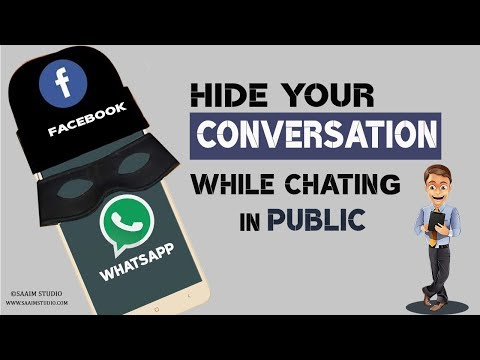 How to Hide your Conversation while Chating on Public?