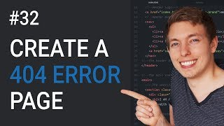 32: How to Create a 404 Page in HTML   Create a Custom 404 Page   Learn HTML \u0026 CSS   HTML Tutorial