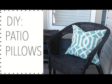 DIY: PATIO PILLOWS   HOME DECOR   HOW TO MAKE PATIO PILLOWS