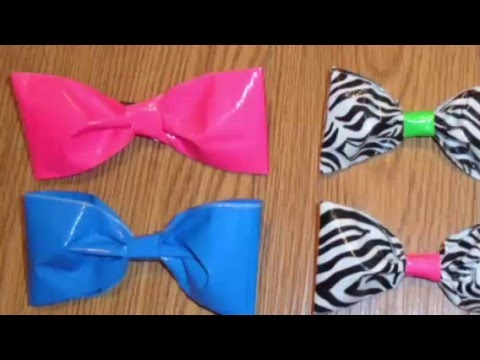 How to make EASY hair bows with duck tape!