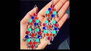 Top 21 latest new arival Tribal Vintage Afghani Earrings Designs (Instagram Accessories)