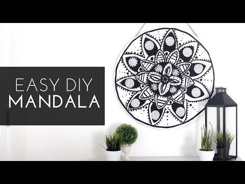 EASY DIY MANDALA TAPESTRY!