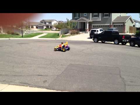 Modified Power Wheels 24V Buggy Donuts 4 Year Old Learning How To Countersteer