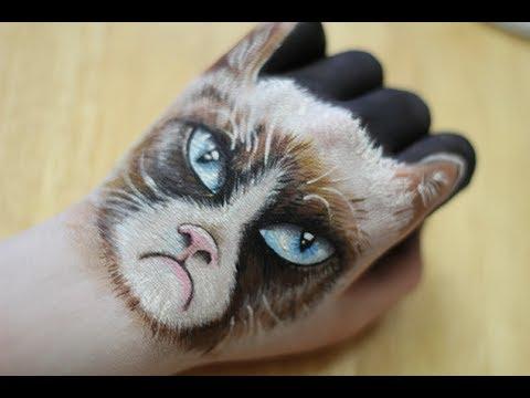 Hand Art: Grumpy Cat