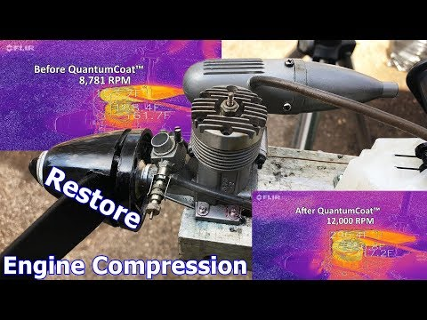 Restore Compression with QuantumCoat - Nitromethane RC Engine