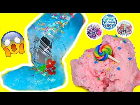 SLIME PACKAGE REVIEW! FAMOUS SLIME SHOPS! 100% Honest Slime Review