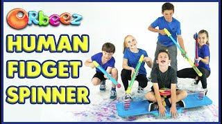 First Ever ORBEEZ HUMAN FIDGET SPINNER!! | Official Orbeez
