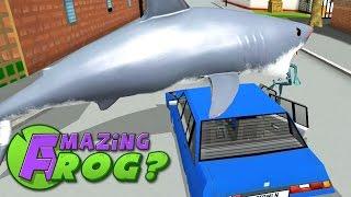 Amazing Frog - SHARKS VS POLICE - Part 37