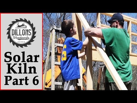Solar Kiln Build Part 6 - Finished The Side Walls