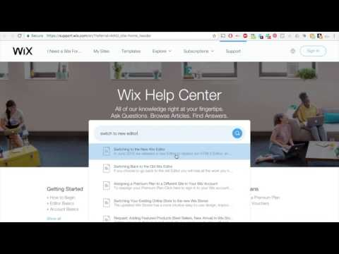 How to switch to the new editor inside the WIX website Platform