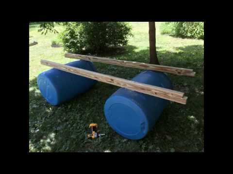Building a portable dock movable by 1 person