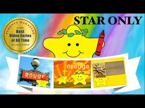 STAR's Colors ★ Learn English, French, Spanish ★  Best Early Learning Videos for Babies Kids