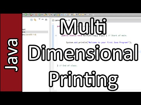Multi Dimensional Printing - Java Programming Tutorial #29 (PC / Mac 2015)