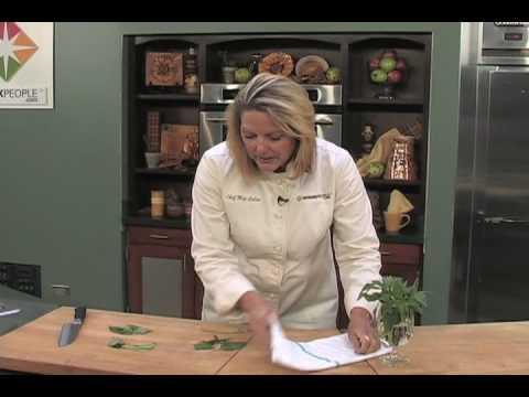 How to Chop Basil, with Chef Meg of SparkRecipes.com