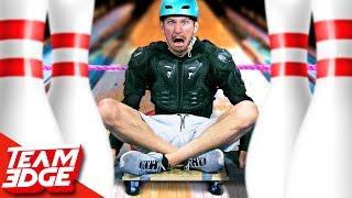 HUMAN Slingshot Bowling Challenge!!