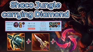 Shaco Jungle carrying Diamond Elo - Season 11 DPS [League of Legends] Full Gameplay - Infernal Shaco