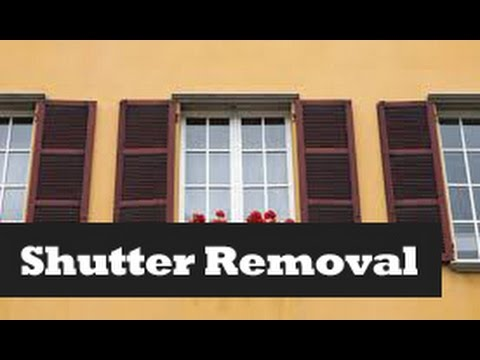 How To Remove & Install Shutters.  Removing Window Shutters.