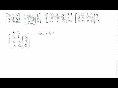 Row echelon form of a matrix explained