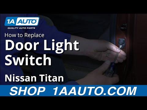 How To Install Replace Door Jamb Interior Light Switch Nissan Titan and Armada