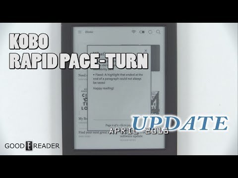 Kobo Unveils New Rapid Page Turn System