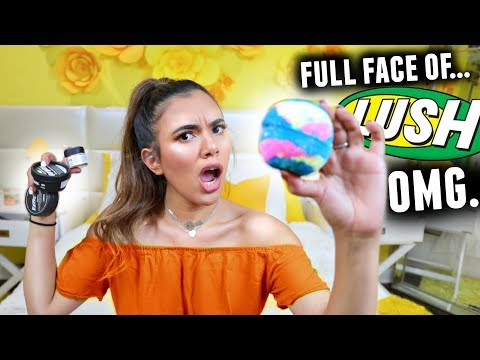 LUSH COSMETICS FULL FACE OF MAKEUP! (All Natural & Cruelty Free Makeup Tutorial)