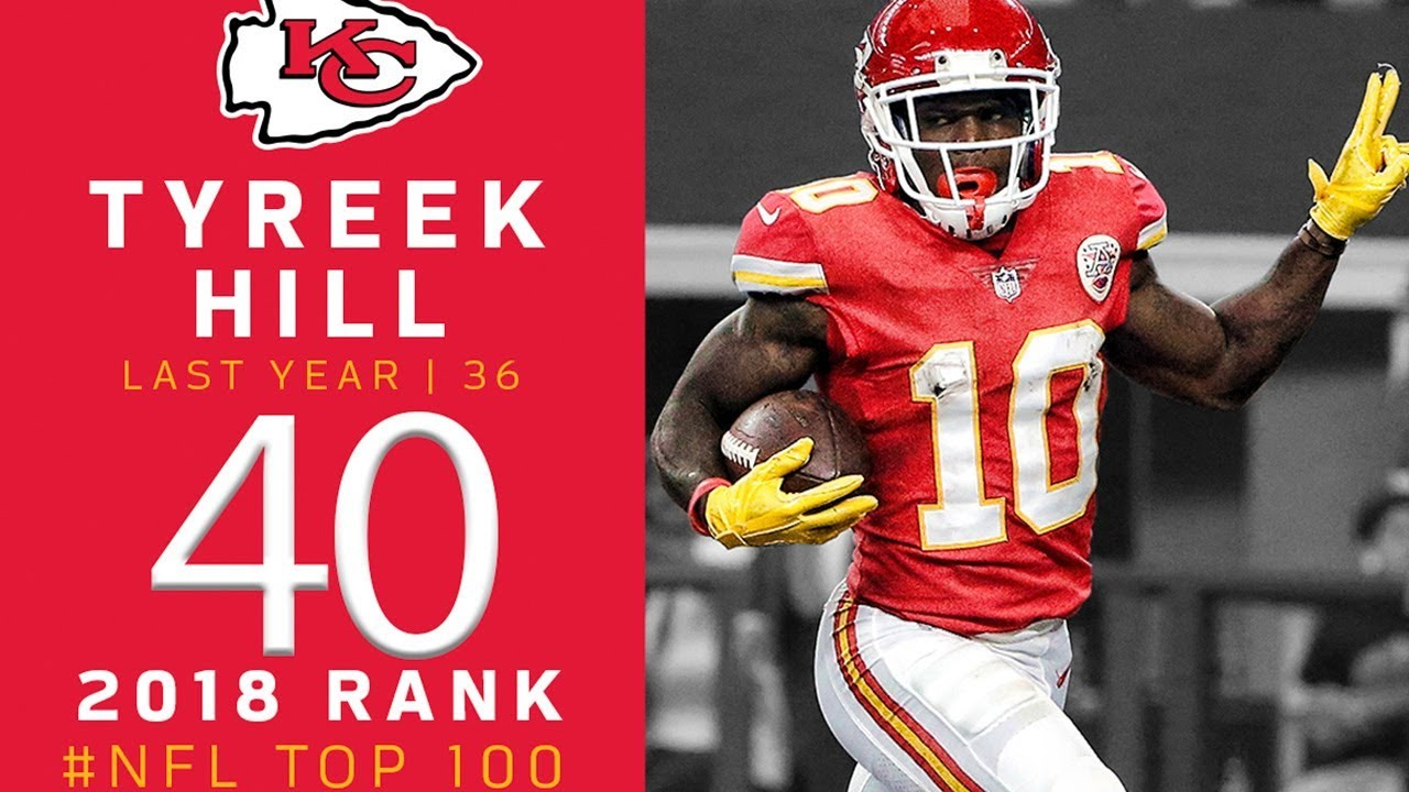 #40: Tyreek Hill (WR, Chiefs) | Top 100 Players of 2018 | NFL