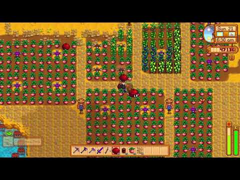 Bombing the farm OH NO how did this happen - Stardew Valley