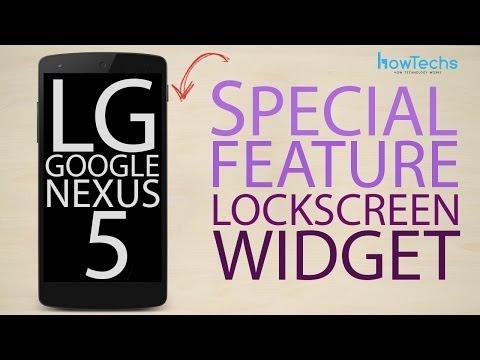 LG Google Nexus 5 - Lockscreen Widget