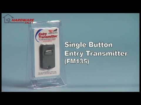 Mighty Mule FM135 Single Button Entry Transmitter