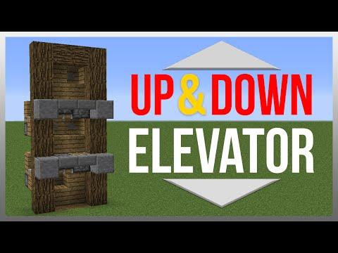 Minecraft 1.10: Redstone Tutorial - Up & Down Elevator!