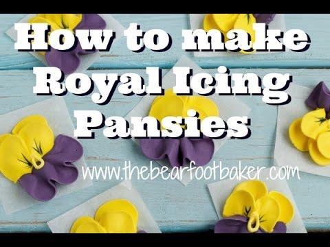 How to make royal icing pansies.