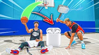 Make This TRICK SHOT or I SMASH Your AirPods !!
