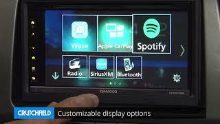 Kenwood DDX6705S Display and Controls Demo   Crutchfield Video
