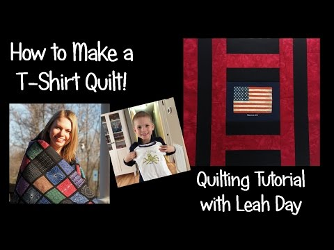How to Make an Easy T-shirt Quilt with Leah Day