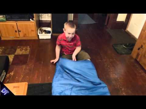 Peanut By EGOZ Easy to carry Blue Warm Adult Sleeping Bag