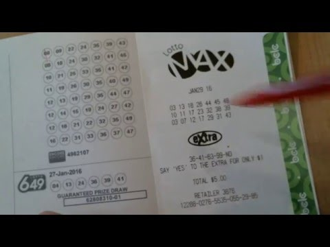 Canada Lotto Max - 60 million - Jan 29, 2016